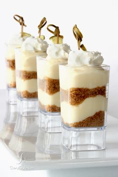 key lime pie shooters for an individual treat