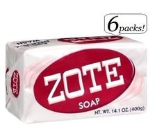 6 Pack ZOTE Pink Laundry Clothes Hand Delicate Wash Soap For Stains 14oz (400g) #Zote