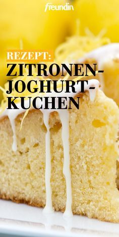 You definitely need to bake this lemon yoghurt cake .- Diesen Zitronen-Joghurt-Kuchen müssen Sie unbedingt nachbacken Simple, fast but tasty: you definitely have to try this lemon yoghurt cake - Easy Cake Recipes, Cookie Recipes, Snack Recipes, Dessert Recipes, Snacks, Lemon Desserts, Fall Desserts, Food Cakes, Fingers Food