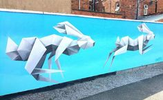Les Origamis animaliers muraux de Annatomix (7)