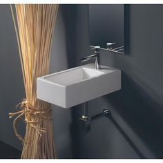 Buy the WS Bath Collections LVR 807 White Direct. Shop for the WS Bath Collections LVR 807 White Vessel or Wall Mounted Bathroom Sink from the Ceramica Collection and save. Modern Bathroom Sink, Ideal Bathrooms, Wall Mounted Bathroom Sinks, Bathroom Layout, Bathroom Interior, Small Bathroom, Master Bathroom, Basement Bathroom, Bathroom Ideas