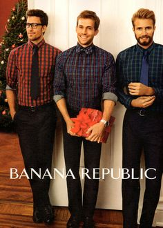 Banana Republic ad looking hip and hipster. I will take one of each. (But I'm not talking about the clothes.)