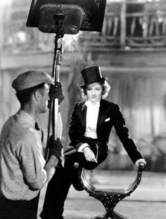 Marlene Dietrich photographed on the set of Morocco, 1930