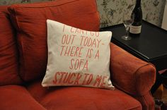 Stuck to a Sofa Cushion copyright by Joyofexfoundation on Etsy, $24.75