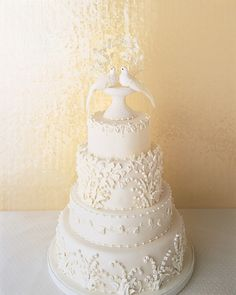 Two Turtle Doves Wedding Cake Topper   Christmas wedding cake ...