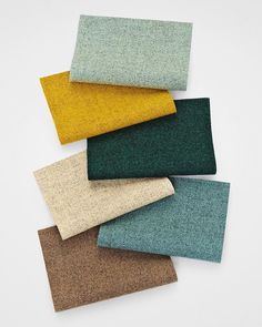 A September premiere. Kvadrat staple Tonica is back with a gentle, mellow colour palette, inspired by the landscape that surrounds us. Designed by British Georgina Wright, Tonica is re-launching this London Design Festival. Room Color Schemes, Room Colors, Colours, Muebles Living, Colour Pallete, Brown Colour Palette, Autumn Color Palette, Colour Board, Deco Design