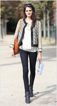 street style...fun with layers...i love black and browns together