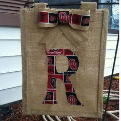 Oklahoma burlap flag : By Larry Dial
