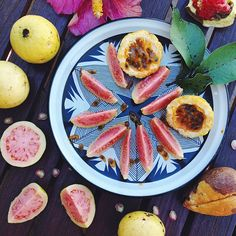 Guava and passionfruit plate: snack time in Maui. Photo courtesy of kaleandcaramel on Instagram.