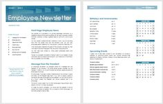 13 Free Newsletter Templates You Can Print Or Email As Pdf Welcome Emailsnewsletter Template Employee