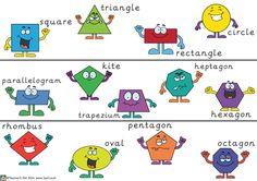 Teacher's Pet - 2D Shape Border V2 - FREE Classroom Display Resource - EYFS, KS1, KS2, 2D, shape, border
