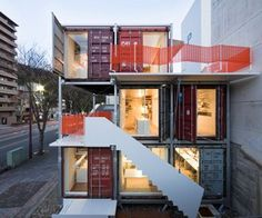 living in a container