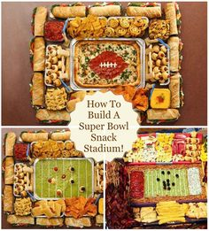 DIY Snackadium Get your fans revved up with easy at-home versions for game day. Building Materials Here's what you'll need to make the base of your snackadium: 1 (15x10-inch) disposable cookie sheet for the field…