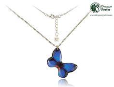 #thin #silverchain #insectprint #tropical #sea #flashing #pendant