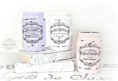 French Painted Mason Jars | Mason Jar Crafts Love