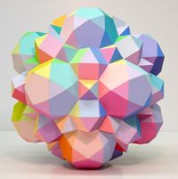 Archimedes by Morton C. Geometric Decor, Geometric Shapes, Solid Geometry, Geometric Sculpture, Indiana University, Candy Colors, Jr, Halo, Backdrops