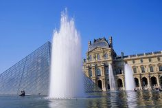 The Louvre and its glass Pyramid, Paris
