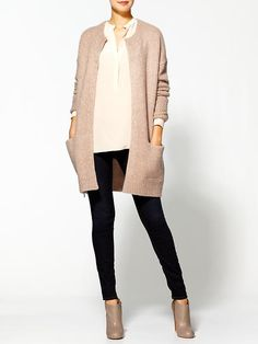 long sleeved cardigan / juicy couture  Visit:  http://fashionartist.org/  Like share and repin :)