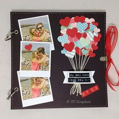 Diy gifts photo album scrapbook ideas for 2019 Scrapbook Bebe, Couple Scrapbook, Scrapbook Journal, Wedding Scrapbook, Scrapbook Designs, Scrapbook Page Layouts, Scrapbook Ideas For Couples, Scrapbook Ideas For Beginners, Friend Scrapbook