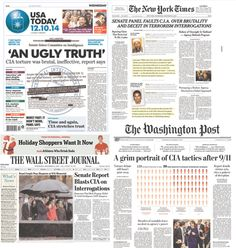 MT @willhuntsberry .@USATODAY had the best front page - only one to call it torture in headline pic.twitter.com/Rt6tPOXnNT @ericuman