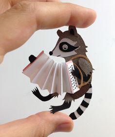 #paper #figure #raccoon #accordion #papercut in Paper magic