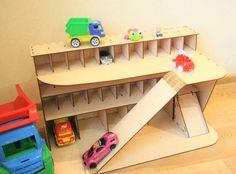 Wood toy car garage!