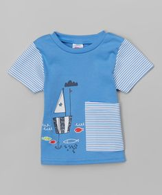 Another great find on #zulily! Periwinkle Sail Boat Big Pocket Tee - Infant & Toddler #zulilyfinds