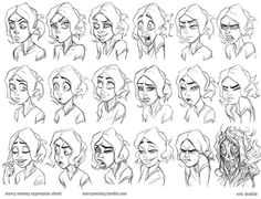 Drawing Female Facial Expressions