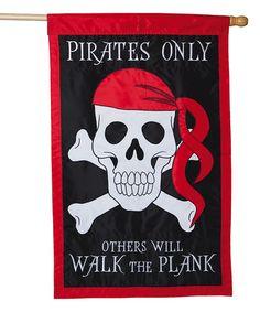 Pirate 'Walk the Plank' Outdoor Flag #zulily #zulilyfinds