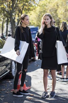 black on black street style inspiration #style #fashion #fashionweek