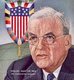 John Foster Dulles 1955 TIME cover art by Ernest Hamlin Baker