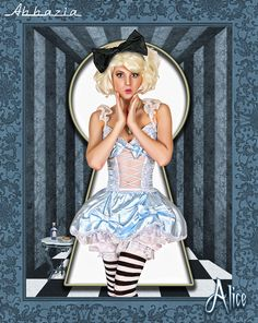 Alice | Al Abbazia print #pinupartsource #pinup