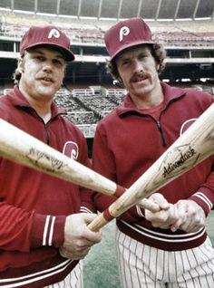 Phillies teammates Greg Luzinski & Mike Schmidt