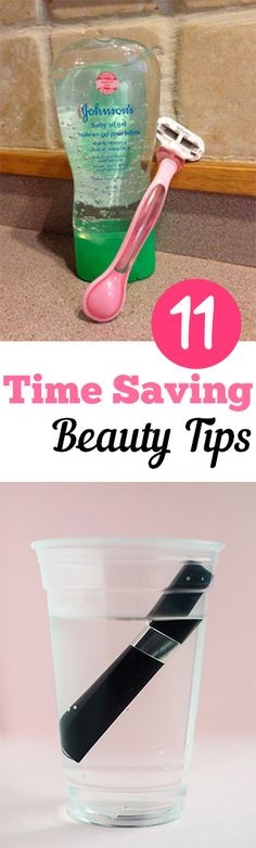 11 Time Saving Beauty Tips. Love anything that makes things quick and easy. #beauty #tips