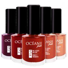 OCÉANE Esmalte -  esmaltes de longa durabilidade (duas vezes maior que a de um esmalte comum). Possui pincel especial que não deixa manchas e bolhas. É 5 free, livre de tolueno, formaldeido, parabeno, DBP e cânfora. Disponível em 24 cores, vende online e lojas de cosméticos no Brasil. Preço Médio: R$15. #cosmeticdetox#esmalte#5free#unhas#nails#naillacquer#nailpolish#vegan#crueltyfree#oceane