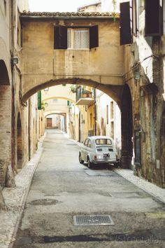 Spoleto Fiat 500 #TuscanyAgriturismoGiratola