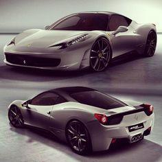 Cool silver Ferrari 458 italia!