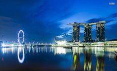 Singapore at night HD Wallpaper