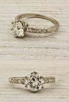 Champagne Colored Vintage Engagement Ring..not crazy about the color but I like the style