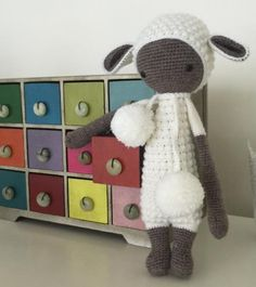 LUPO the lamb made by Lise van der S. / crochet pattern by lalylala