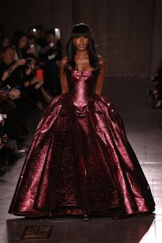 """Naomi Campbell walks the runway at the Zac Posen fashion show during Mercedes-Benz Fashion Week Fall 2015 "" """