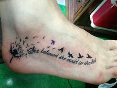 45 Dandelion Tattoo Designs for Women, Tattoo, Dandelion Tattoos - 45 Dandelion Tattoo Designs for Women. Meaningful Tattoo Quotes, Tattoo Quotes For Women, Foot Tattoos For Women, Tattoo Designs For Women, Tattoo Girls, Quote Tattoos Girls, Girl Tattoos, Foot Arch Tattoo, Female Tattoos