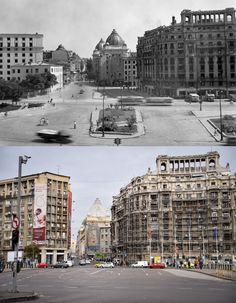 ATUNCI ŞI ACUM: Piaţa Naţiunilor Unite - Bucurestii Vechi si Noi Trieste, Bucharest, Old City, Time Travel, Times Square, Nostalgia, Traveling, Memories, Old Pictures