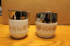 Mid Century Modern Gemco Cream and Sugar by campeauscollectables