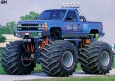 bearfoot monster truck - I didn't know they made a stepside version. Cool.