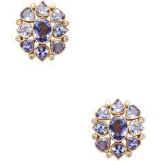 Amrapali Amrapali Women's Tanzanite & Diamond Cluster Earrings -... (596.430 HUF) ❤ liked on Polyvore featuring jewelry, earrings, purple, amrapali jewellery, tanzanite earrings, earrings jewelry, 18 karat gold jewelry and purple stud earrings