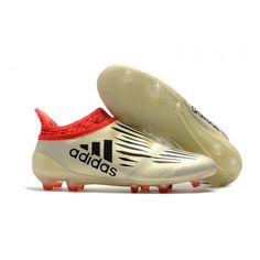 new product 9a616 5dca4 Adidas X 16+ Purechaos FG Fotbollsskor Vit Röd Svart