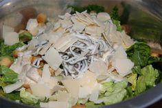 receta de ensalada césar con gulas