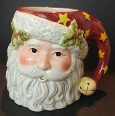 Certified International Santa Claus Coffee Mug 3D Susan Winget Cocoa Cup 24 oz