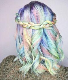 helle blaue und andere farben in pastell
